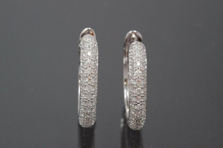 Hoops 925/- Silver rhodium plated approx size AØ22,6mm, IØ17,0mm, MS2,8mm, wide 4,0mm