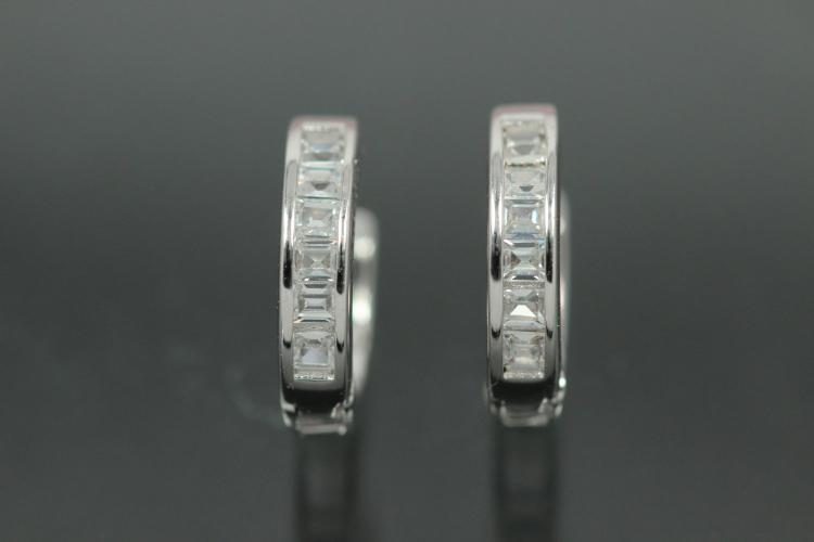 Hoops 925/- Silver rhodium plated approx size AØ12,2mm, IØ9,0mm, MS1,6mm, wide 2,7mm