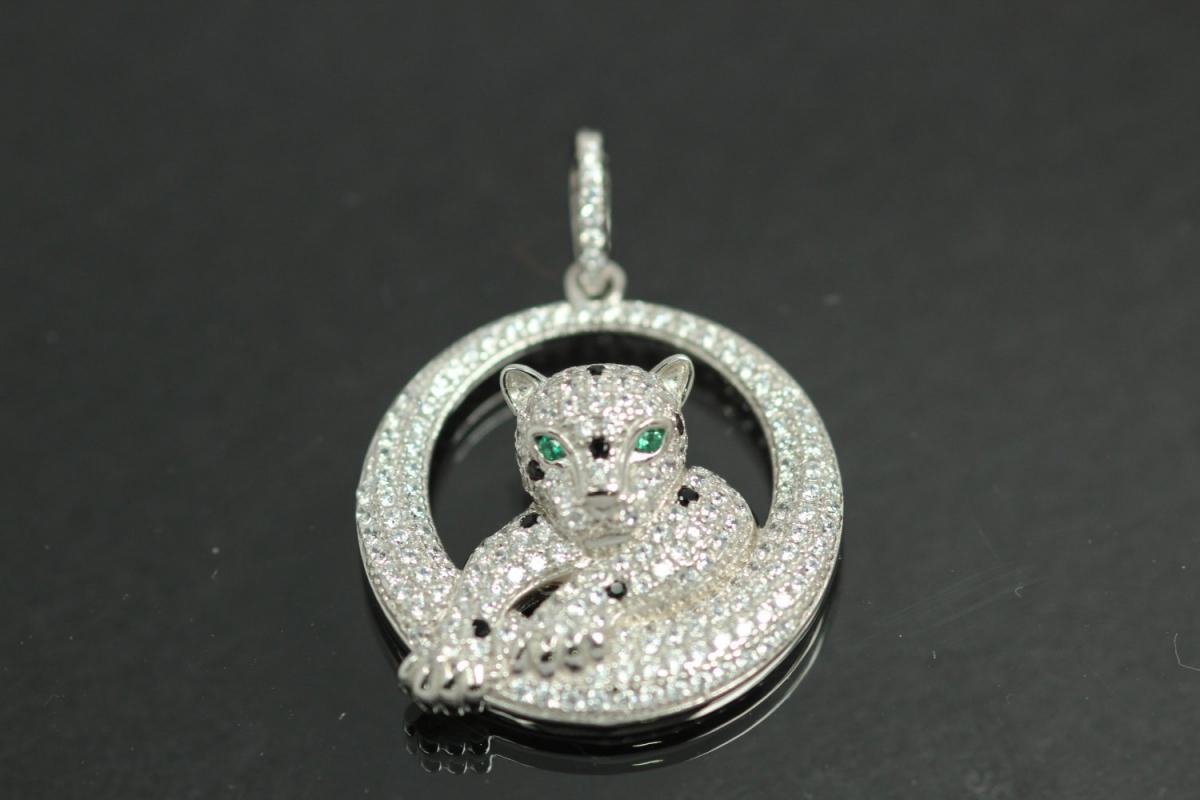 aLEm Pendant Gepard 925/- Silver rhodium plated