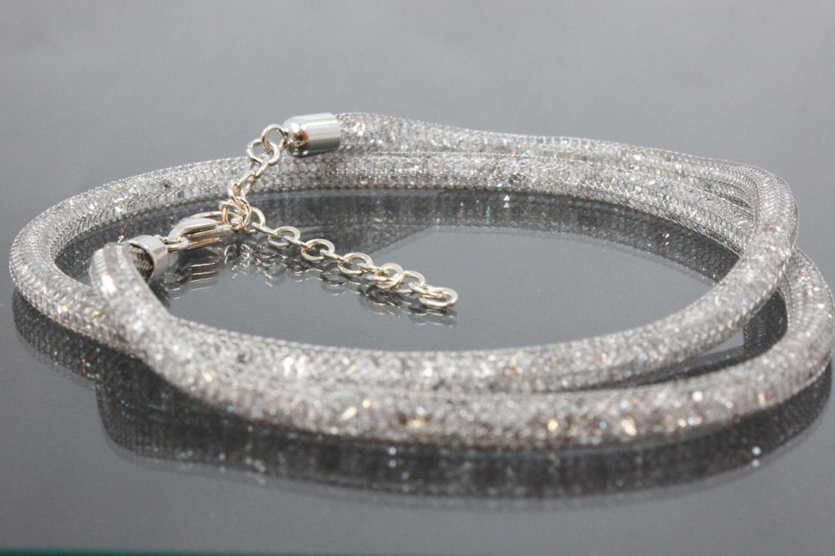 aLEm Filled Meshchain Happy Starlight with 925/- Silver trigger clasp and end parts