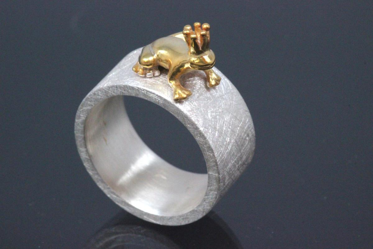 aLEm Ring Golden Mantella by alain LE mondial 925/- Silver and partially gold plated