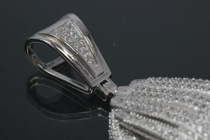 aLEm Pendant Greatful Hands with Zirconia 925/- Silver rhodium plated