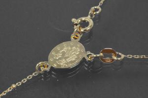 aLEm Lifestyle - chain with cross and medal 925/- silver gold plated with spring ring