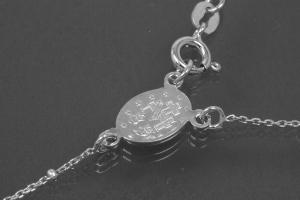 aLEm Lifestyle - chain with cross and medal 925/- silver rhodium plated with spring ring
