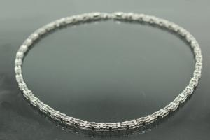 aLEm Wild Life Chain with Clasp 925/- Silver rhodium plated,