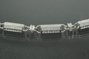 aLEm Sailors Chain in Concertinastyle with Clasp 925/- Silver rhodium plated,