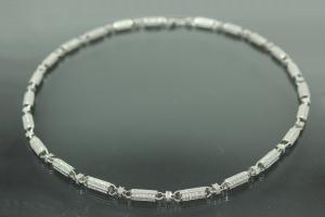 aLEm Sailor's Chain in Concertinastyle with Clasp 925/- Silver rhodium plated,