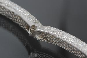 aLEm necklace Snake White Mamba 925/- Silver rhodium plated,body approx. Size Ø 8-16mm, head 40 x 24mm, inside neck size approx. 40cm length