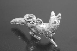 aLEm Pendant Fox with openable bail 925/- Silver