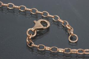 aLEm Necklace Infinity 925/- Silver rosé gold plated