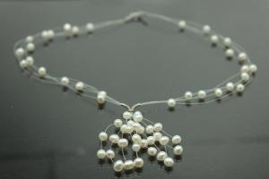 aLEm white Freshwater Pearl Necklace