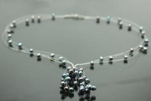 aLEm Peacock Freshwater Pearl Necklace