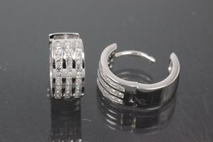 Hoops 925/- Silver rhodium plated approx size AØ13,0mm, IØ10,6mm, MS1,5mm, wide 6,4mm