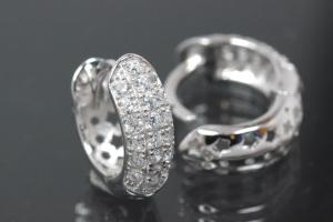 Hoops 925/- Silver rhodium plated approx size AØ13,8mm, IØ9,0mm, MS2,4mm, wide 4,8mm