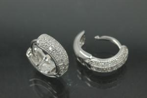 Hoops 925/- Silver rhodium plated approx size AØ10,1mm, IØ6,9mm, MS1,6mm, wide 3,8mm